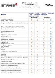 ETAVIS Installationen AG COE Telematik Produkt ProCall für Outlook