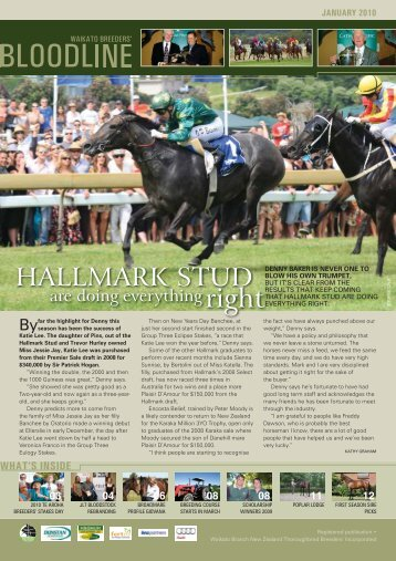HALLMARK STUD - New Zealand Thoroughbred Breeders