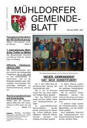 Gemeindeblatt April 2005 - Marktgemeinde Mühldorf in der Wachau