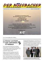 Greiner und Haidl- mair unterstützen FF Nußbach - Gemeinde ...