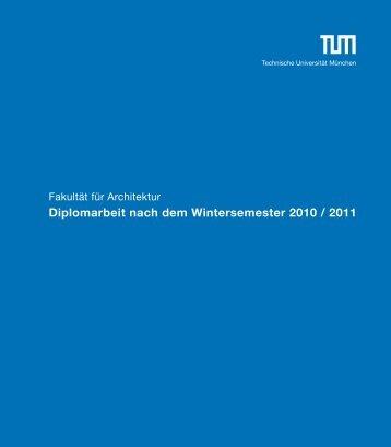 Download Broschüre - Fakultät für Architektur - TUM