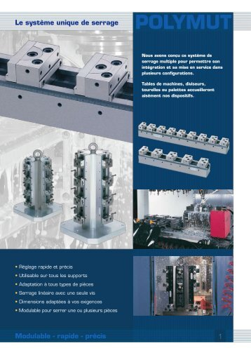 POLYMUT Le système unique de serrage Modulable - Evard Précision