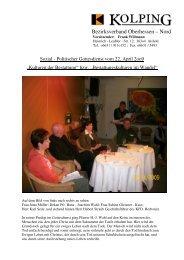 Bericht vom 22.o4.o9 SPG - Kolping Diözesanverband Mainz