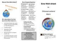 Eine-Welt-Arbeit - Kolping Diözesanverband Mainz