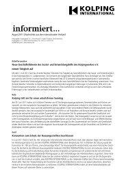 Newsletter aus dem Internationalen Kolpingwerk