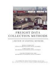 FREIGHT DATA COLLECTION METHODS - Regionomics