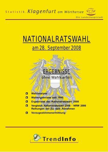 Nationalratswahl 2008 - ohne Wahlkarten - Klagenfurt