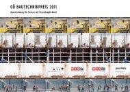 OÖ BAUTECHNIKPREIS 2011 - Wirtschaftskammer Österreich