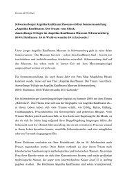 Angelika Kauffmann: Der Traum vom Glück. Ausstellungs - Hubce