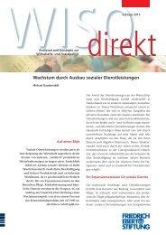 Wachstum durch Ausbau sozialer Dienstleistungen - Bibliothek der ...