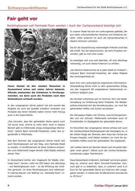 Ausgabe 1 2012 - Caritasverband für die Stadt Recklinghausen e.V.