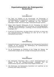 Organisationsstatut des Kolpingwerkes ... - Kolpingwerk Trier