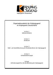 Organisationsstatut der Kolpingjugend im ... - Kolpingwerk Trier