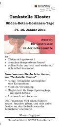 Flyer Auszeit für Gestresste Einzel - Kolpingwerk Trier
