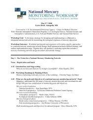 Workshop Agenda - National Atmospheric Deposition Program
