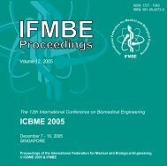 12th International Conference on Biomedical Engineering (ICBME)