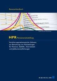HPR Handbuch - Bewertung Pensionsrückstellung