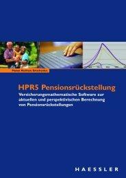 HPR5 Pensionsrückstellung - Online Katalog