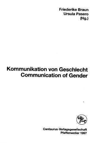 Kommunikation von Geschlecht Communication of ... - Caja Thimm