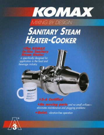 Download Sanitary Mixer Brochure (pdf)