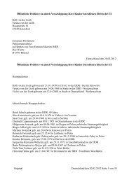 Öffentliche Petition von durch Verschleppung ... - Betroffene Eltern