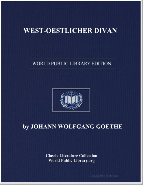 WEST-OESTLICHER DIVAN - World eBook Library - World Public ...