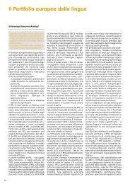 Il Portfolio europeo delle lingue (PEL) - Euroscuola