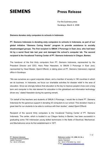 Press Release - Siemens