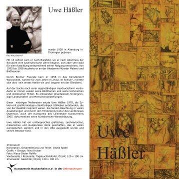 Uwe Häßler - Kunstverein Hockenheim