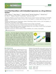 Core/Shell Nanofibers with Embedded Liposomes as a Drug ...