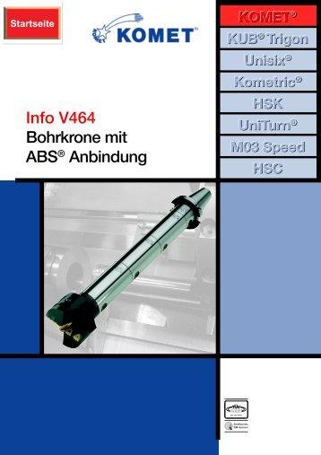 Info V464 Bohrkrone mit ABS Anbindung - Komet Group