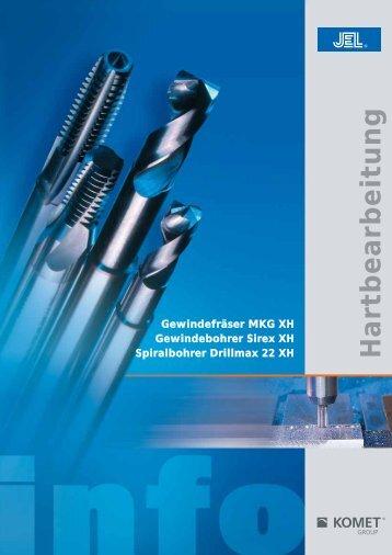 Hartbearbeitung - Gewindefräser MKG XH ... - Komet Group