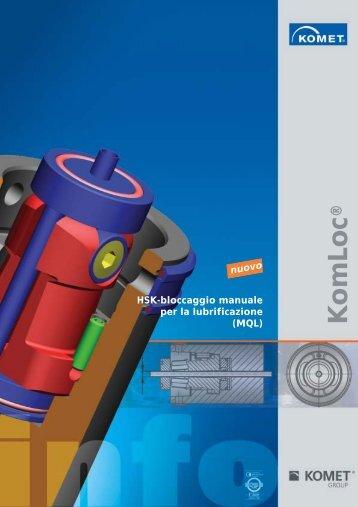 HSK-bloccaggio manuale per la lubrificazione (MQL) - Komet Group