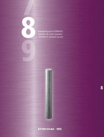 88 8Handlaufsystem VORMATIC Système de main ... - Etter & Co AG