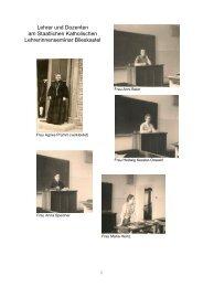 Lehrer und Dozenten am Seminar - Blieskastel