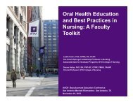 Oral Health Education and Best Practices in Nursing - American ...