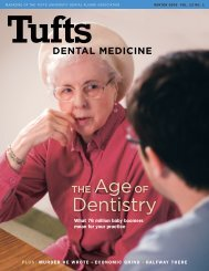 Dentistry - Tufts University School of Dental Medicine