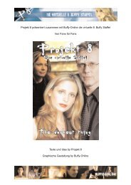 Texte und Idee by Projekt 8 Graphische Gestaltung by Buffy-Online ...