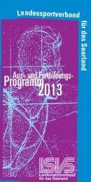 LSVS Aus-und Fortbildung2013 - Landessportverband für das ...