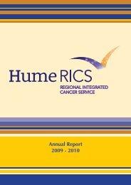 Annual Report 2009 - 2010 - Hume RICS