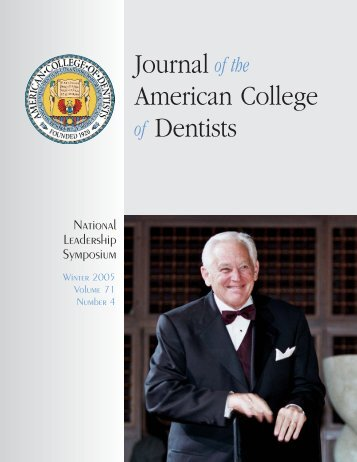 JACD 71-4 - American College of Dentists