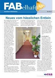 FABelhaft - Information für MitarbeiterInnen des FAB - 1/2012