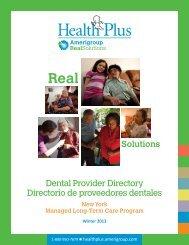 Dental Provider Directory Directorio de proveedores ... - Amerigroup