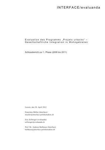 Schlussbericht - Evaluanda