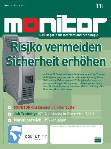 Die komplette MONITOR-Ausgabe 11/2007 können Sie