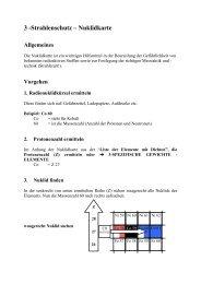 3 -Strahlenschutz – Nuklidkarte - ABC-Gefahren