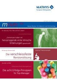 move! Newsletter, September/Oktober 2011 - Mathys AG Bettlach