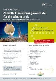 Aktuelle Finanzierungskonzepte für die  Windenergie - Kompass ...