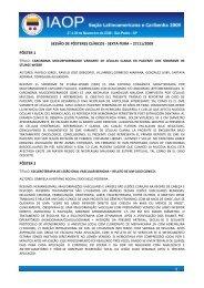 sexta feira - Sociedade Brasileira de Estomatologia