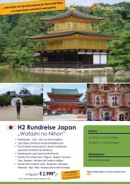 H2 Rundreise Japan - Acontatto